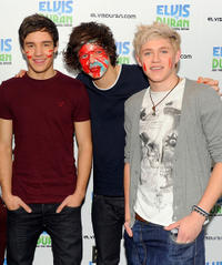 Liam Payne, Harry Styles and Niall Horan at the Elvis Duran Z100 Morning Show in New York.