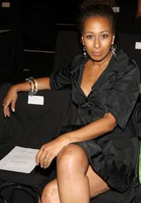 Tamara Tunie at the Carmen Marc Valvo Spring 2009 fashion show during the Mercedes-Benz Fashion Week.