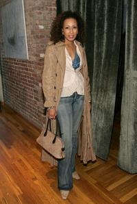 Tamara Tunie at the reception of Drama Desk nominees.