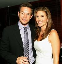 Mark Wahlberg and Paige Turco at the premiere of