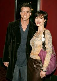 Janine Turner and Robert Merrill at the premiere of