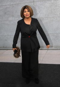 Tina Turner at the Giorgio Armani fashion show.