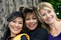 Dechen Shak-Dagsay, Tina Turner and Regula Curti at the presentation of the music project