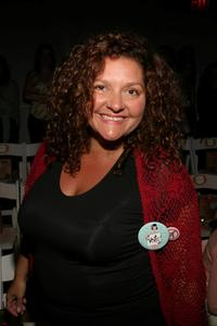 Aida Turturro at the Nanette Lepore show during Olympus Fashion Week Spring 2005.