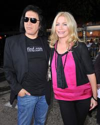 Gene Simmons and Shannon Tweed at the premiere of
