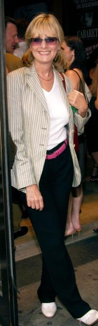 Twiggy at the opening night of Richard Rogers and Lorenz Hart's Broadway play