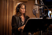 Steven Tyler on the set of