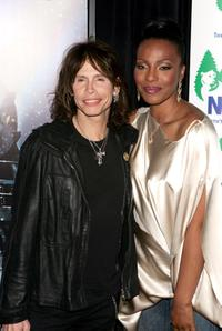 Steven Tyler and Nona Gaye at the premiere of