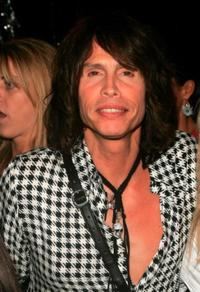 Steven Tyler at the Marc Jacobs show during the Olympus Fashion Week Spring 2005.