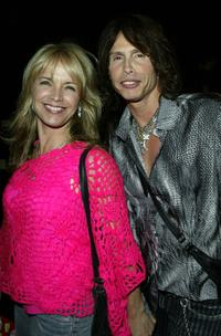 Teresa Barrick and Steven Tyler at the Anna Sui Spring 2005 fashion show during the Olympus Fashion Week Spring 2005.