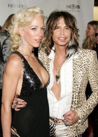 Steven Tyler and Erin Brady at the Conde Nast Media Group's Fourth Annual Fashion Rocks Concert.