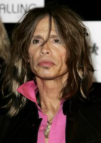 Steven Tyler at the photocall to promote
