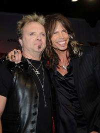Joey Kramer and Steven Tyler at the launch of