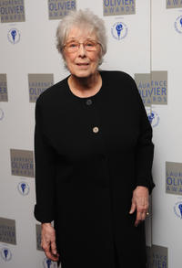 Margaret Tyzack at the Laurence Olivier Awards in London.