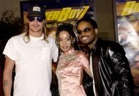 Kid Rock, Lisa Bonet and Larenz Tate at the premiere of