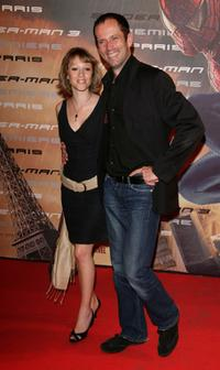 Christian Vadim and Guest at the premiere of