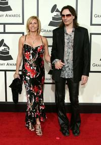 Steve Vai and Guest at the 50th Annual Grammy Awards.