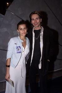 Nelly Furtado and Steve Vai at the 44th Annual Grammy Awards rehearsals.