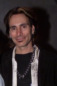 Steve Vai at the 44th Annual Grammy Awards rehearsals.