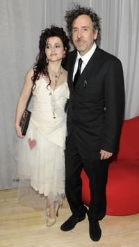 Helena Bonham Carter and Tim Burton at the London premiere of