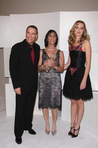 Jean-Claude Van Damme, Juliette Welfling and Louise Bourgoin at the Cesar Film Awards 2008.