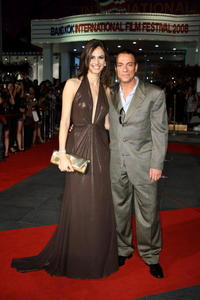 Claudia Bassol and Jean-Claude Van Damme at the screening of