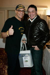 Jean-Claude Van Damme and Kader Ayd at the