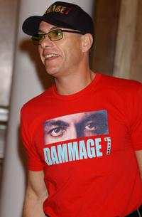 Jean-Claude Van Damme poses for photographers at the Spanish premiere of