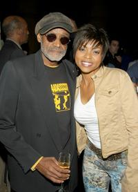 Melvin Van Peebles and Taraji P. Henson at the after party for the Los Angeles Premiere of