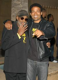 Melvin Van Peebles and Mario Van Peebles at the Los Angeles Premiere of