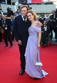 Sandrine Bonnaire and Gerard Depardieu at the 56th Cannes film festival.