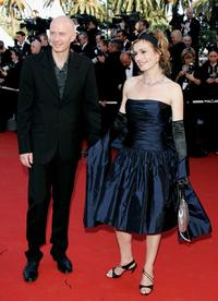 Sandrine Bonnaire and husband author Guillaume Laurant at the 59th International Cannes Film Festival premiere of