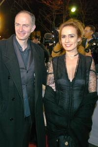 Sandrine Bonnaire and her husband Guillaume Lorant at the 29th Nuit des Cesars.