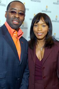 Courtney B. Vance and Angela Bassett at the National Underground Railroad Freedom Center Gala.