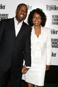 Courtney B. Vance and Angela Bassett at the Conde Nast Traveler Readers Choice Awards.