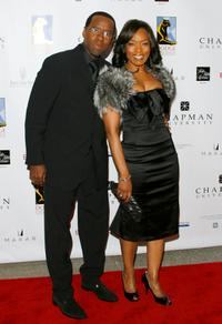 Courtney B. Vance and Angela Bassett at the premiere of the Dodge College of Film and Media Arts.