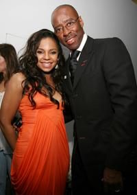 Ashanti and Courtney Vance at the Ashanti Listening Party.