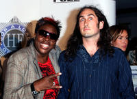 Comedian Gina Yashere and Ross Noble at the Sydney premiere of