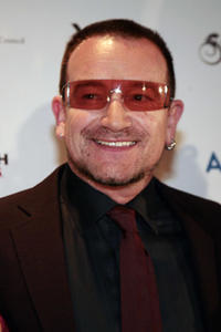 Bono at the YouthAIDS Benefit Gala in Mclean, Virginia.