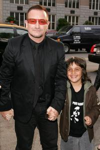 Bono and India Sebastian at the premiere of