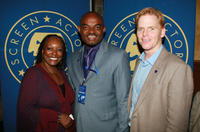 L. Scott Caldwell, Emeka Rollas and Ned Vaughn at the Screen Actors Guild Awards in California.
