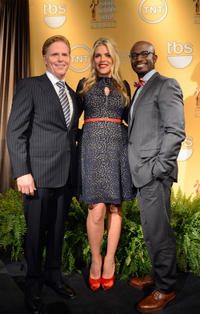 Ned Vaughn, Busy Philipps and Taye Diggs at the 19th Annual Screen Actors Guild Award Nominations.
