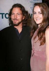 Eddie Vedder and Jena Malone at the Los Angeles premiere of
