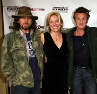 Eddie Vedder, Tamara Conniff and Sean Penn at the Hollywood Reporter/Billboard Film and TV Music Conference Day.