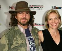 Eddie Vedder and Tamara Conniff at the Hollywood Reporter/Billboard Film and TV Music Conference Day.