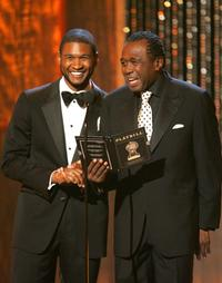 Ben Vereen and Usher Raymond at the 61st Annual Tony Awards.