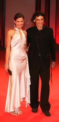 Anna Lahiri and Enrico Lo Verso at the premiere of