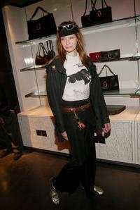 Veruschka at the Yves Saint Laurent Rive Gauche 57th Street Boutique Opening Party.