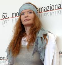 Veruschka at the photocall of