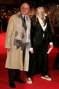 Alfred Biolek and Veruschka at the premiere of